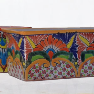 Ceramic Talavera Rectangular Flower Pot