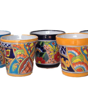 Ceramic Talavera Cone Flower Pot 18cm - Multi