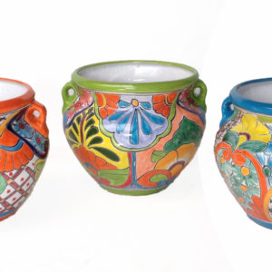 Ceramic Talavera Michoacano Flower Pot_Multi
