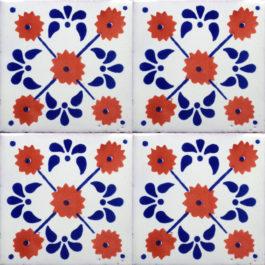 Mexican Talavera Tile – HAD 057-TERRACOTTA