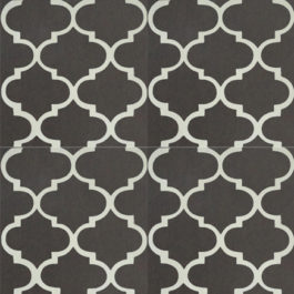 Encaustic Cement Tile A635-BLACK