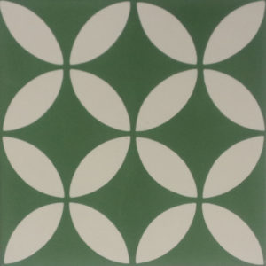 Encaustic Cement Tile A199-GREEN