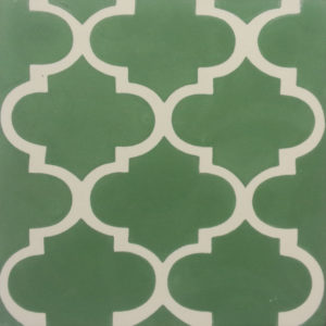 Encaustic Cement Tile A635-GREEN