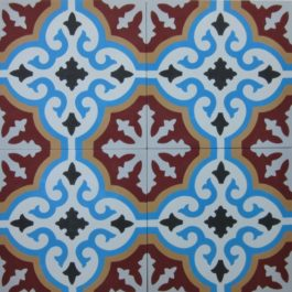 Encaustic Cement Tile A402-E
