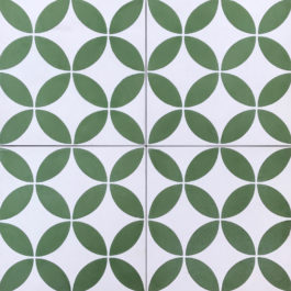 Encaustic Cement Tile A119-GREEN