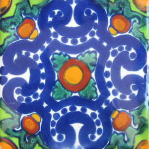 Mexican Talavera Tile – AZ 160 (HAD 041 REVERSED)