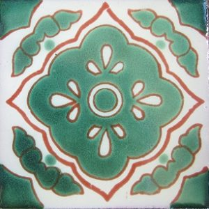 Mexican Talavera Tile – HAD 046-GREEN / AZ 059