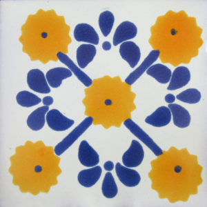 Mexican Talavera Tile – HAD 057-YELLOW
