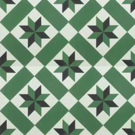 Encaustic Cement Tile A158-GREEN