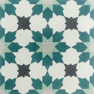 Encaustic Cement Tile A411-E