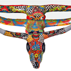 Ceramic Talavera Bull Horns