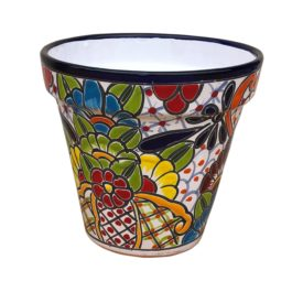 Ceramic Talavera Cone Flower Pot 25cm